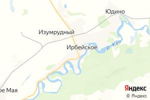 Карта с. Ирбейское Красноярский край