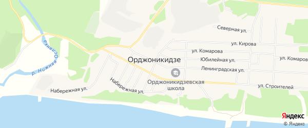 Карта поселка Орджоникидзе в Красноярском крае с улицами и номерами домов