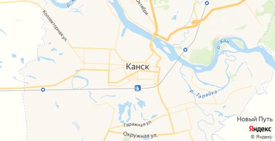 Карта Канска с улицами и домами подробная. Показать со спутника номера домов онлайн