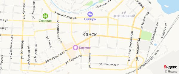 ГСК Планета на карте Канска с номерами домов