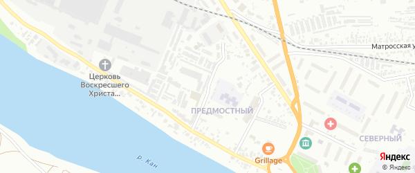 Промышленный переулок на карте Канска с номерами домов