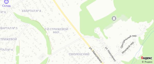 Улица Николенко на карте Канска с номерами домов