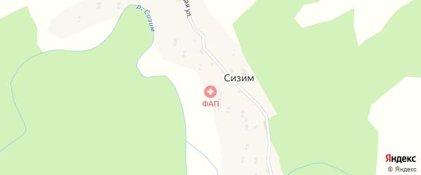 Местечко Чодуралыг на карте села Сизима Тывы с номерами домов