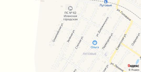 Зеленая улица в Иланском с номерами домов на карте. Спутник и схема онлайн