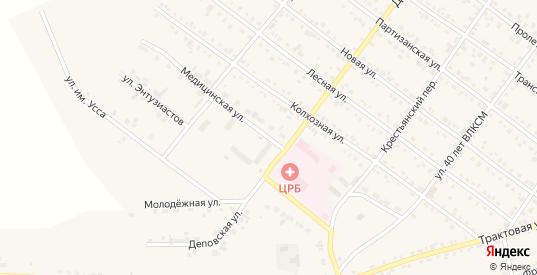 Медицинская улица в Иланском с номерами домов на карте. Спутник и схема онлайн