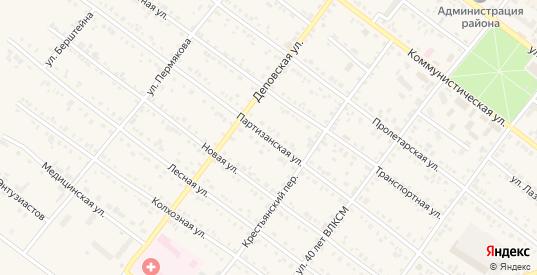 Партизанская улица в Иланском с номерами домов на карте. Спутник и схема онлайн