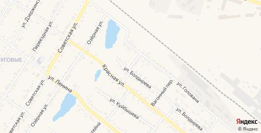 Семафорный переулок в Иланском с номерами домов на карте. Спутник и схема онлайн