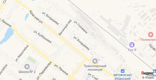 Улица Болдырева в Иланском с номерами домов на карте. Спутник и схема онлайн
