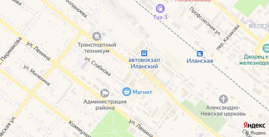 Улица Мелиорации в Иланском с номерами домов на карте. Спутник и схема онлайн