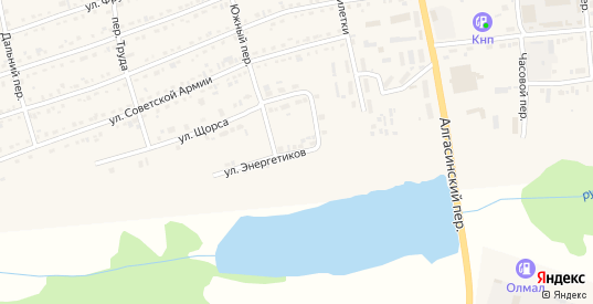 Улица Энергетиков в Иланском с номерами домов на карте. Спутник и схема онлайн
