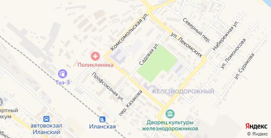 Садовая улица в Иланском с номерами домов на карте. Спутник и схема онлайн