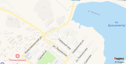 Овражный переулок в Иланском с номерами домов на карте. Спутник и схема онлайн