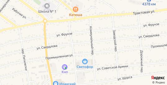 Улица Свердлова в Иланском с номерами домов на карте. Спутник и схема онлайн