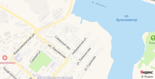 Береговой переулок в Иланском с номерами домов на карте. Спутник и схема онлайн