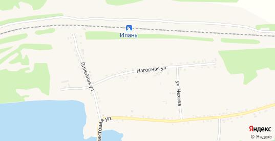 Нагорная улица в Иланском с номерами домов на карте. Спутник и схема онлайн