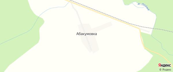 Карта деревни Абакумовки в Красноярском крае с улицами и номерами домов