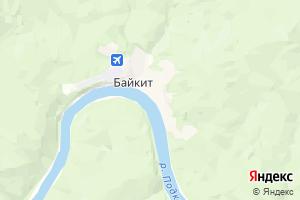 Карта с. Байкит Красноярский край