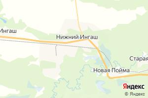 Карта пгт Нижний Ингаш Красноярский край