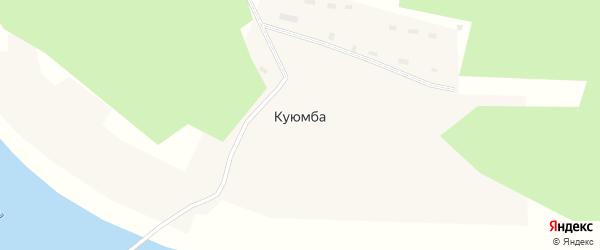 Набережная улица на карте поселка Куюмба Красноярского края с номерами домов