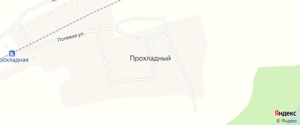 Заречная улица на карте Прохладного поселка Красноярского края с номерами домов