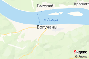 Карта с. Богучаны Красноярский край
