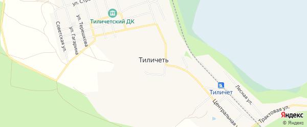 Карта поселка Тиличети в Красноярском крае с улицами и номерами домов