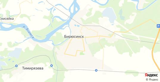 Карта Бирюсинска с улицами и домами подробная. Показать со спутника номера домов онлайн