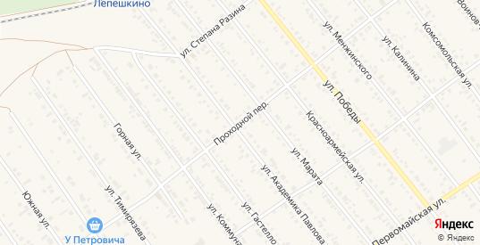 Проходной переулок в Тайшете с номерами домов на карте. Спутник и схема онлайн