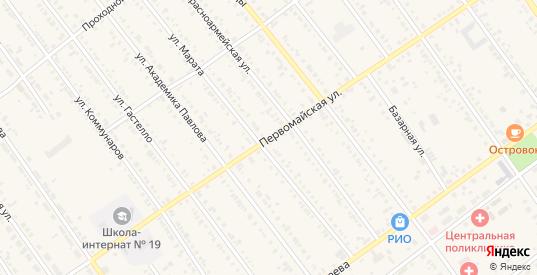 Первомайская улица в Тайшете с номерами домов на карте. Спутник и схема онлайн