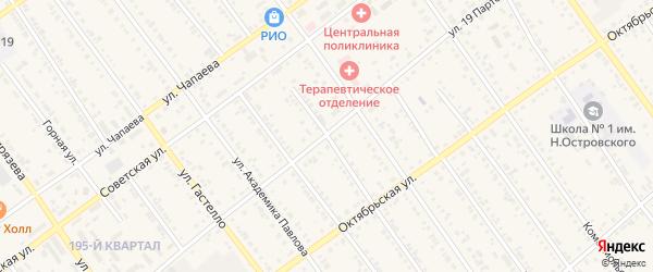 Красноармейская улица на карте Тайшета с номерами домов