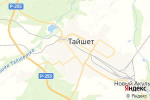 Карта г. Тайшет Иркутская область