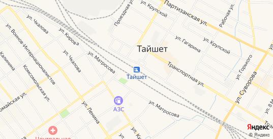 СТ Тайшетка на карте Тайшета с номерами домов