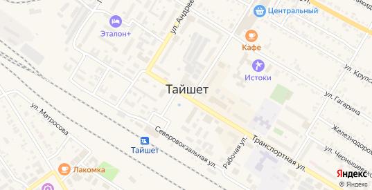 Тихий переулок в Тайшете с номерами домов на карте. Спутник и схема онлайн