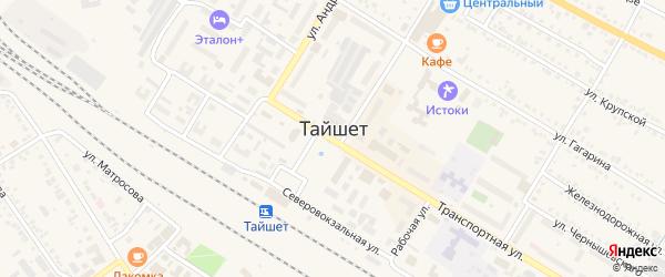 Поселок Нефтебаза на карте Тайшета с номерами домов
