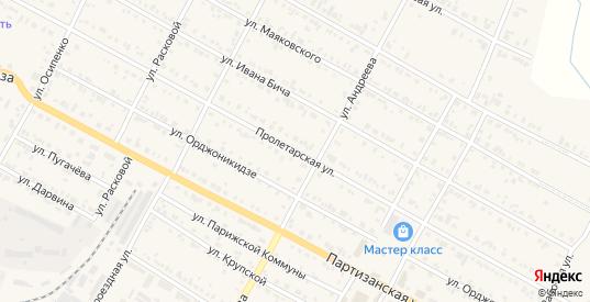 Пролетарская улица в Тайшете с номерами домов на карте. Спутник и схема онлайн
