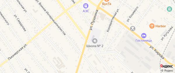 Улица Пушкина на карте Тайшета с номерами домов