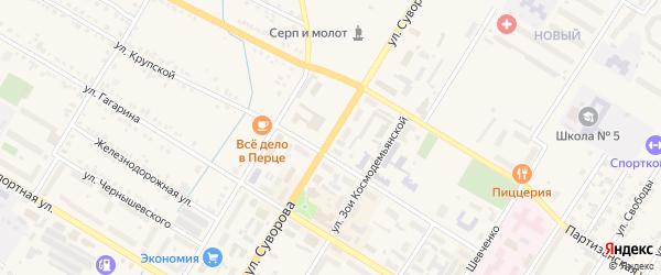 Улица Суворова на карте Тайшета с номерами домов
