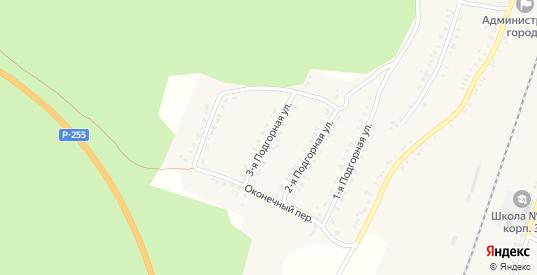 Подгорная 3-я улица в Алзамае с номерами домов на карте. Спутник и схема онлайн