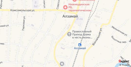 Первомайская улица в Алзамае с номерами домов на карте. Спутник и схема онлайн