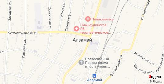 Болотный переулок в Алзамае с номерами домов на карте. Спутник и схема онлайн
