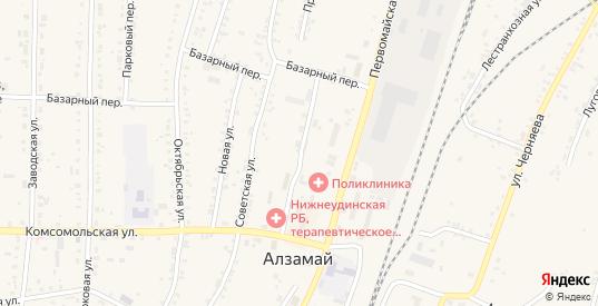 Параллельная улица в Алзамае с номерами домов на карте. Спутник и схема онлайн