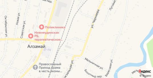 Переулок Заготзерно в Алзамае с номерами домов на карте. Спутник и схема онлайн
