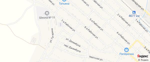 Рабочая 7-я улица на карте Нижнеудинска с номерами домов