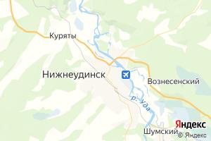 Карта г. Нижнеудинск Иркутская область