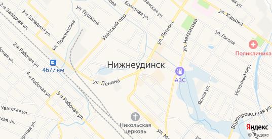 Карта населенного пункта Звездочка в Нижнеудинске с улицами, домами и почтовыми отделениями со спутника онлайн