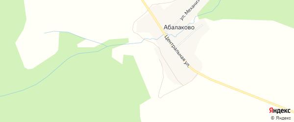 Карта села Абалаково в Иркутской области с улицами и номерами домов