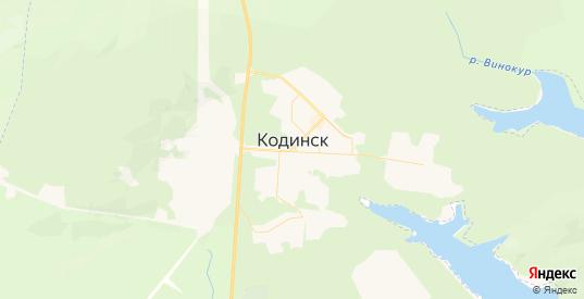 Карта Кодинска с улицами и домами подробная. Показать со спутника номера домов онлайн