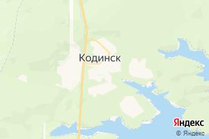 Карта г. Кодинск Красноярский край