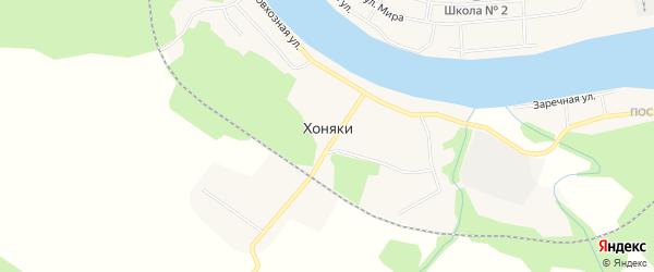 Карта поселка Хоняки в Иркутской области с улицами и номерами домов