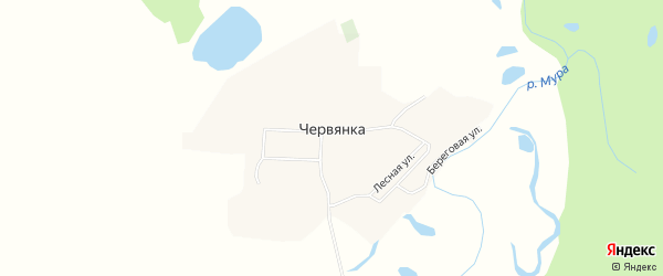 Карта села Червянка в Иркутской области с улицами и номерами домов